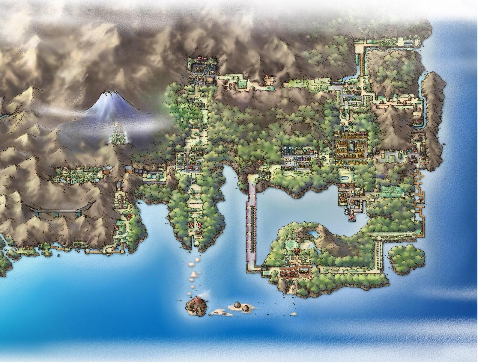 Landkarte: Kanto HGSS_Kanto