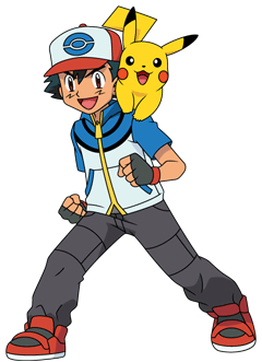 Welches Outfit von Ash findet ihr am besten? Ash_BW_Artwork