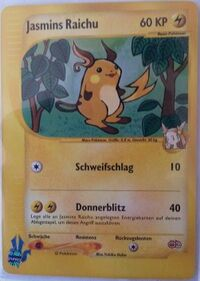 Jasmins Raichu (Pokémon Card ★ VS 027).jpg